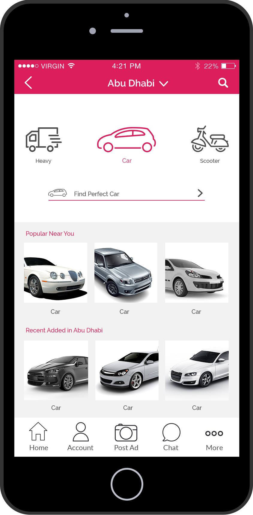 Free Classified Ads App UI UX Design