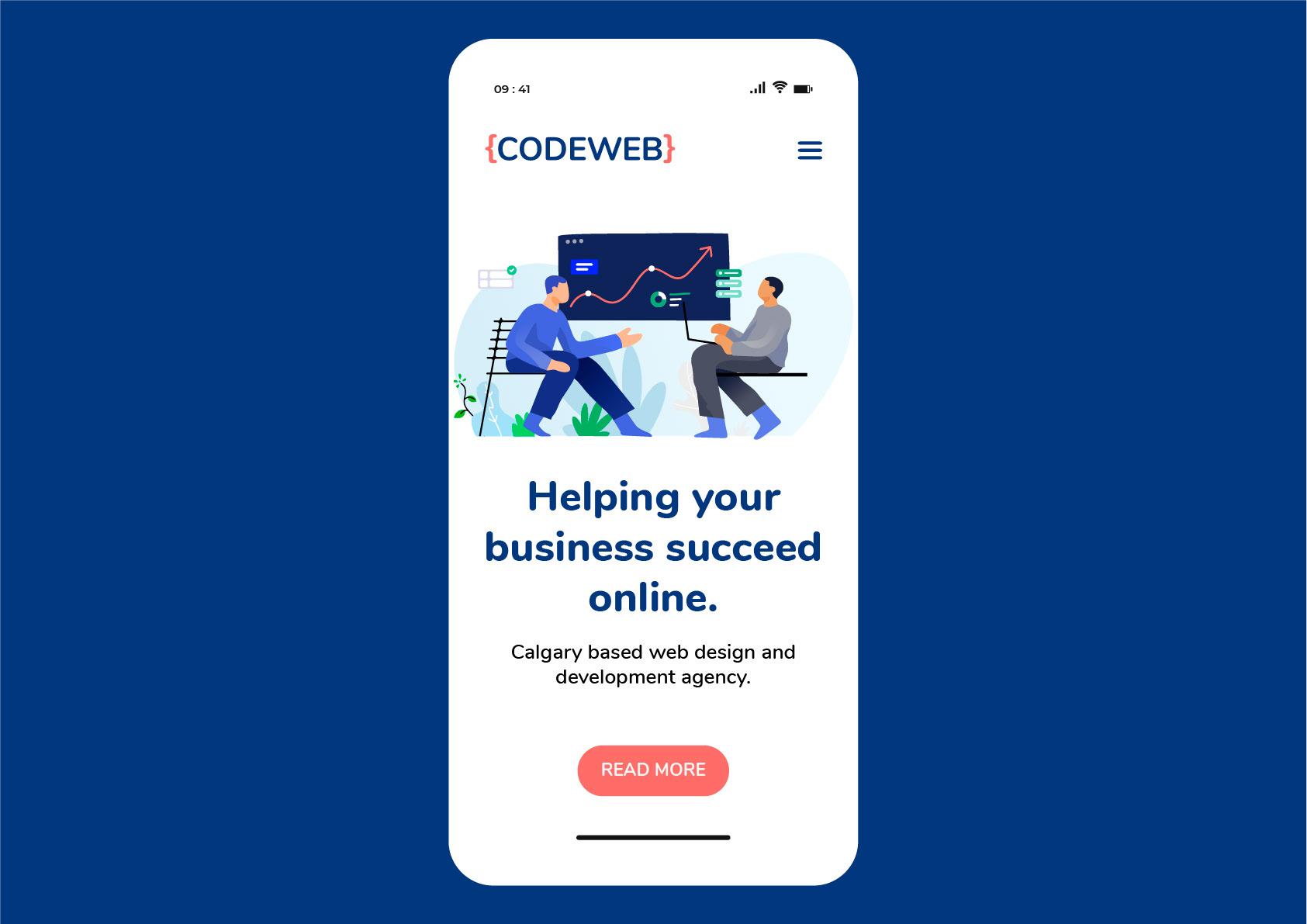 Codeweb.ca Branding & Website Redesign