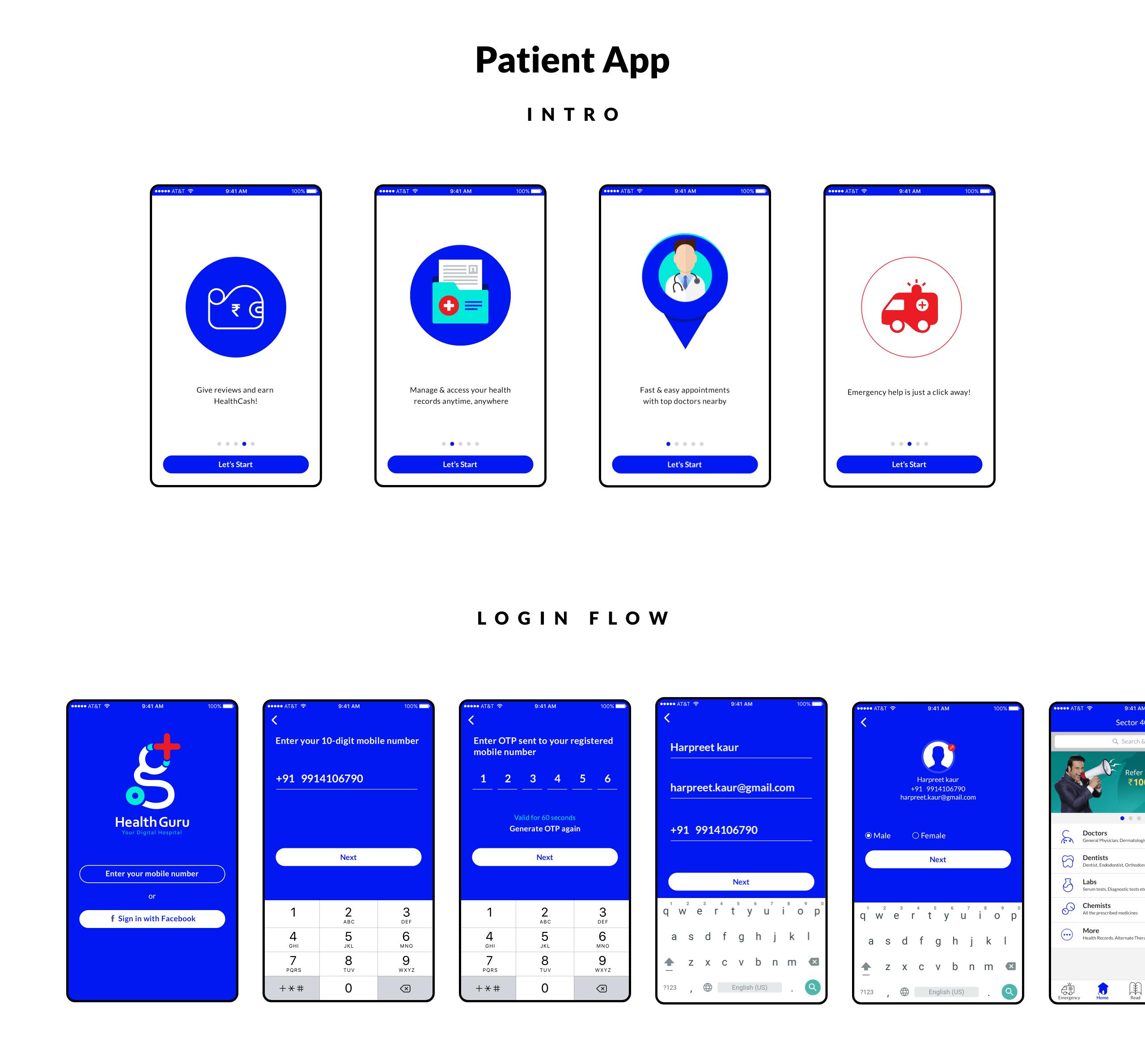 Medical App For Patient UI UX Design