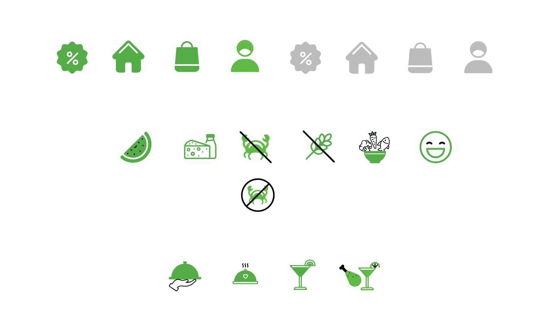 Restaurant Booking App Iconography