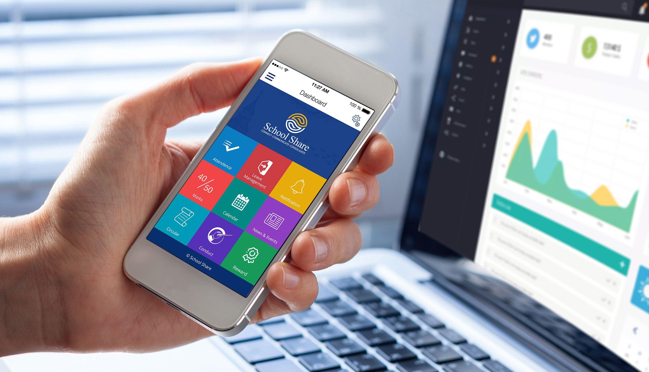 School Parent Teacher ERP App Branding, UI UX Design