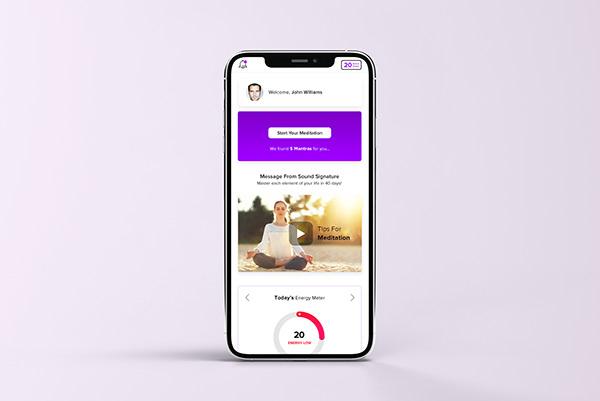 Sound Based Meditation App Branding & UI/UX Design