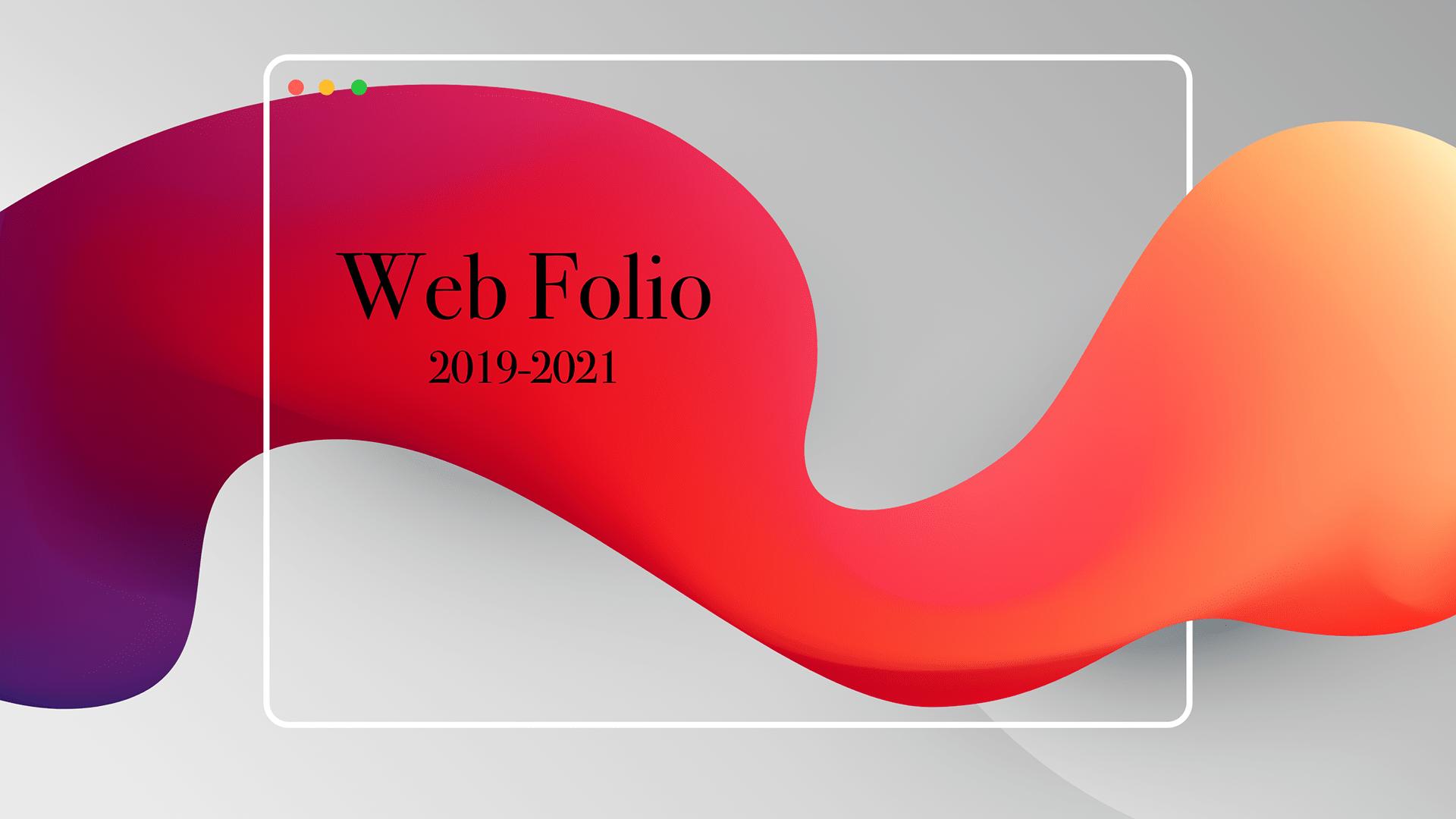 Web Folio 2019-2021